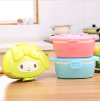 Cartoon design plastic lunch box with kids lunch box