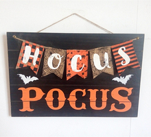 Wholesale halloween party wall decoration wood wall art wood crafts