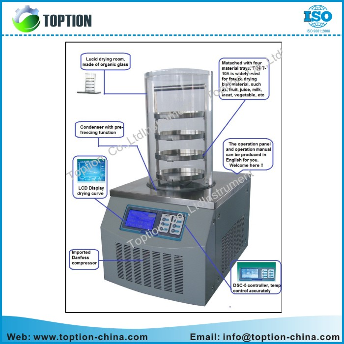 TOPT-10A Vacuum Freeze Dryer 0086-13891867045.jpg