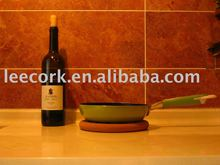 100% natural cork pad for protecting kitchen surface