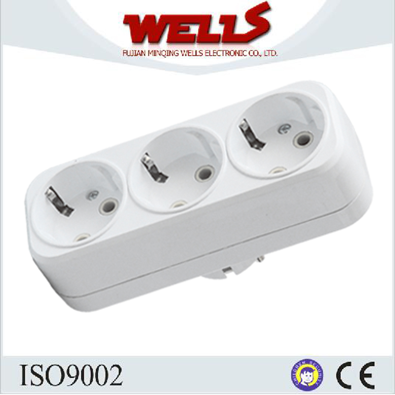 Simple and Convenient German Type Power Outlet