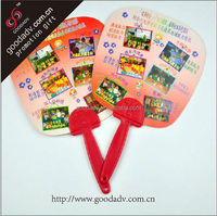 hand fans custom printed / mini plastic hand fan / materials for making hand fans