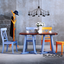 SUMJOY solid wood pine dining table and chair