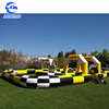 Kids toy outdoor cars race track zorb ball race track inflatable go kart race track