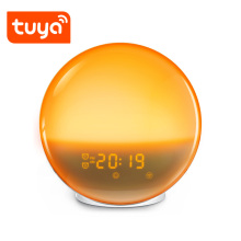 Wake up light alarm clock touch LED nightlight with LED FM radio table lamp with clock