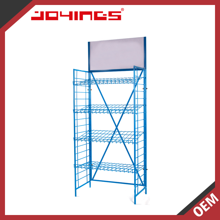 Blue Metal Wholesale Shelving Unit with Endless Staggered Basket