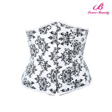 Big stock underbust hot women sex black and white corset