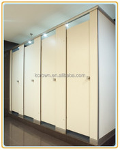 Wood Laminate Sheet White Board Toilet/ Bathroom Partition with Fittings