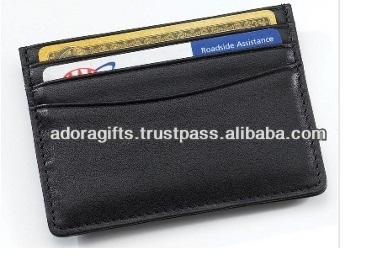ADACCC - 0045 leather mini card case for promotion / cheap price name card holder / business card holder wholesale