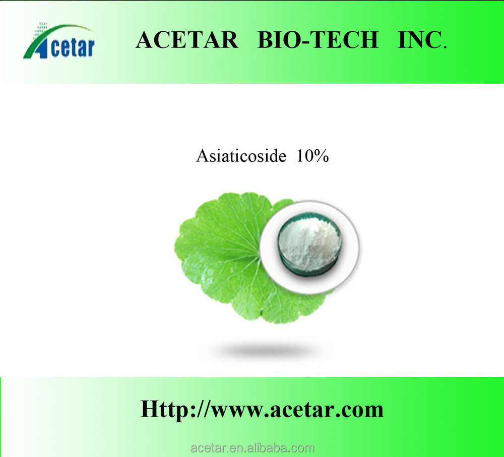 Factory directly supply high quality Gotu Kola P.E. Madecassic Acid Iso Haccp, Kosher , Halal cert. factory