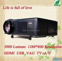With hdmi usb vga tv Media Tuner Led Lamp Projector Support 1080p 3D