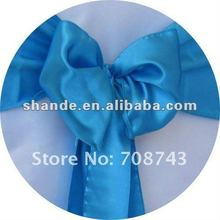 wedding satin chair cover sash/satin bow