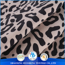 leopard print softshell fabrics: stretch fabric +TPU film +fleece