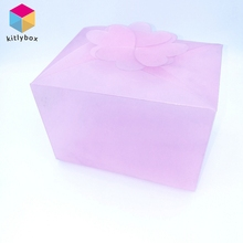 Luxury custom plastic PVC window paper gift packaging box with strong quality