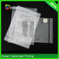 Transparent print logo packing plastic opp bags with header