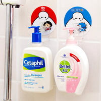 cartoon designed shampoo bottle holder rack/bathroom body wash bottle hanging rack-red