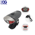 300Lumen USB LED Bicycle Helmet Bike Light Set Powerful Bike Light Rechargeable