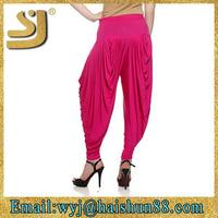 ladie's performance make fashion design silk harem pants
