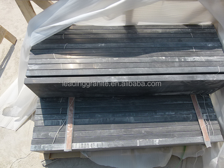 Blue limestone bullnose window sills