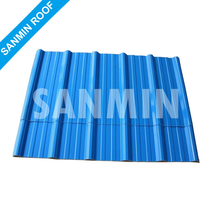 Waterproof heat insulated PVC plastic roofing covering