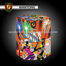 wholesale 19 shots rock and roll cake fireworks for musical festival