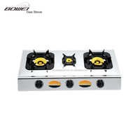 Wholesale used appliance table top Gas Cooker with 3 burner BW-3017