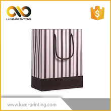Unique Natural 200gsm Art Paper Die Cut Carrier Paper Wine Bags Printed With Tag