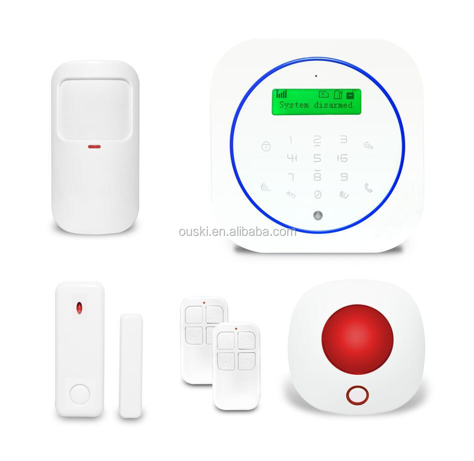 Contact ID Protocol GSM Home Burglar Alarm System with APP and 7 languages