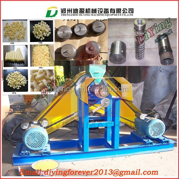 Cheap Corn snacks extruding machine/corn puff snack extruder
