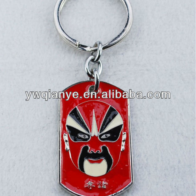 facial makeup in Beijing Opera design key chain, new arrival