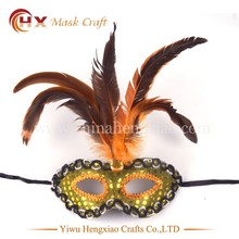 wholesale plain masquerade mask carnival feather mask