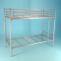 High quality dormitory bed metal bunk bed double bed designs in steel