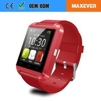 Unisex Fashion Plastic Strap Christmas Promotion Gift U8 Smart Wristwatches