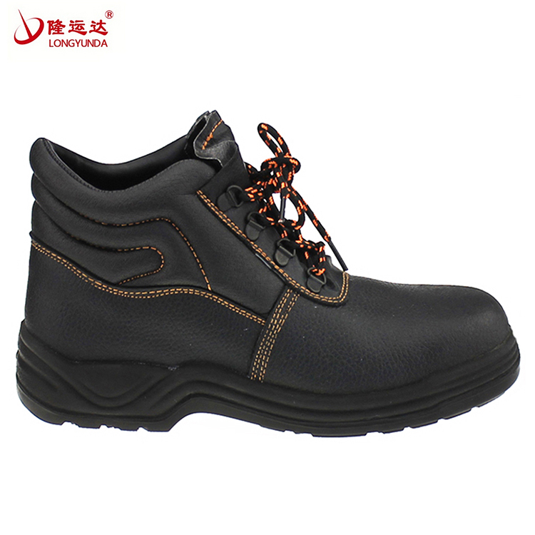 Factory OEM High quality leather work safety boots men
