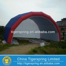 Hot welding or sewing inflatable event shelter tent