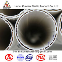 helix water pipes for sale U-PVC inside spiral muffle pipe