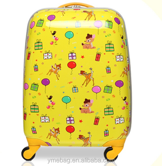 light weight Cuty Kids Suitcase With Trolley, popular Kids Trolley Hard Case Luggage