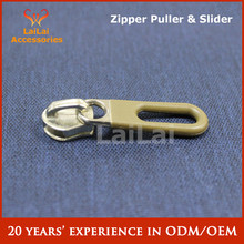 Brown color rubber zipper cover with NO 5 zipper head