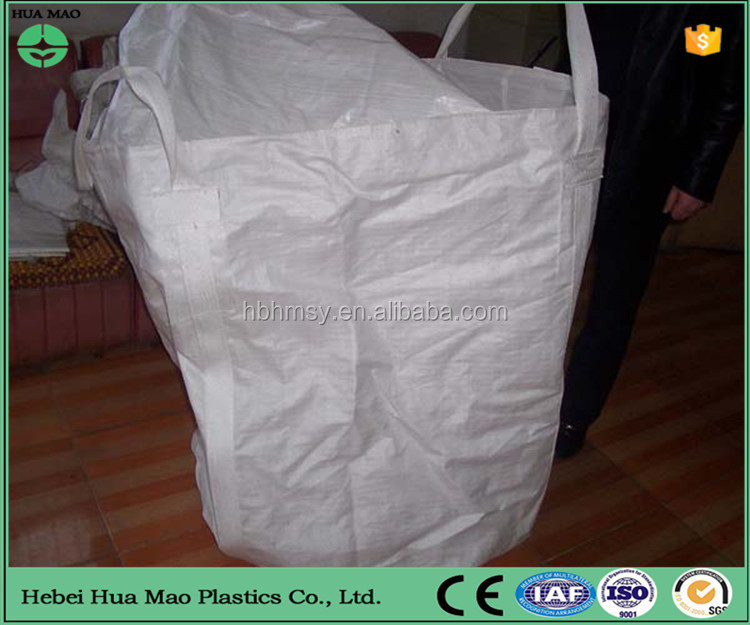 High Quality Skirt Cover Top Flat Bottom 4 Handle Polypropylene Cement Container Big Bag For Package
