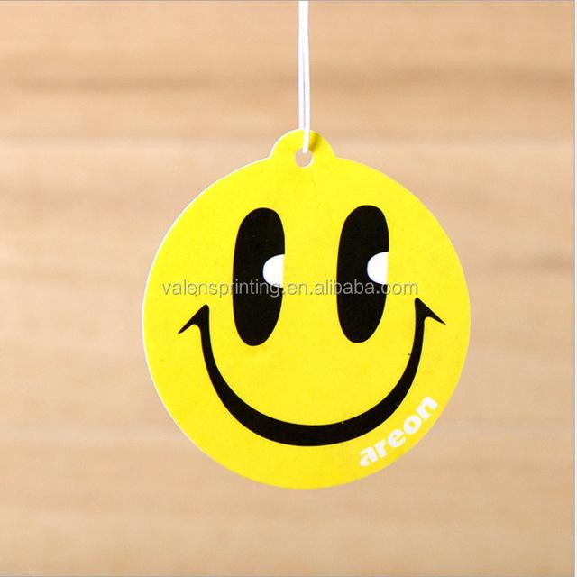 long lasting scent emoji face paper air freshener