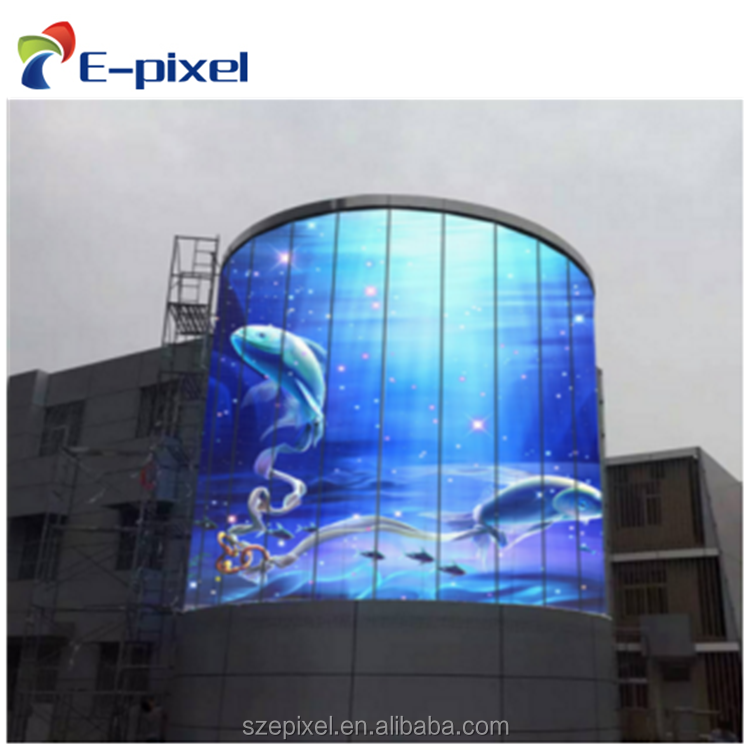 P3.91 outdoor window Glass Led Display outdoor monitor screen