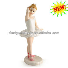 decorative resin ballet dancer figurine