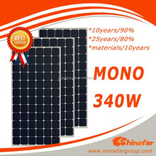 Mono solar cell 340 watt the best china solar panel price