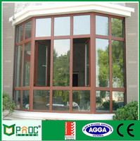 French Style Aluminum Double Glass Casement Window With New Grill Design