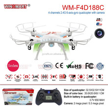 WM-F4D188C 2.4G 4ch 6axis gyro remote drone quadcopter with camera