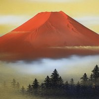hanging scroll Mt. Fuji