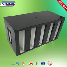 Fresh Industrial W V shape bank combined hepa air filter