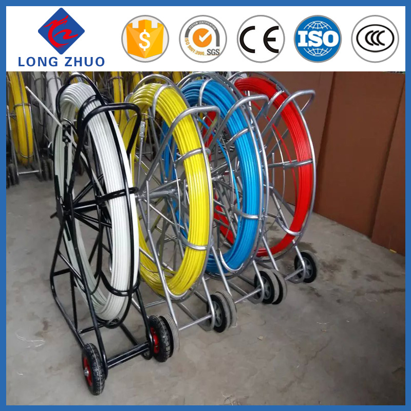 100 meters to 350 meters fiber glass duct rodder,FRP rods,conduit snake rodder