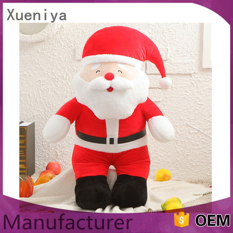 Christmas soft toy plush toys outdoor plastic clause santa Claus