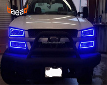 Color changing LED angel eyes DRL halo rings headlight bulbs for 2003 chevy silverado